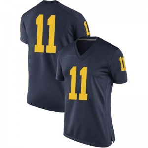 Colin Castleton Michigan Wolverines Women's Replica Brand Jordan Football College Jersey - Navy