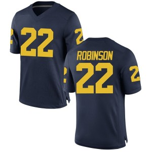 Duncan Robinson Michigan Wolverines Men's Replica Brand Jordan Football College Jersey - Navy