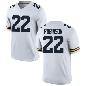 Duncan Robinson Michigan Wolverines Men's Replica Brand Jordan Football College Jersey - White