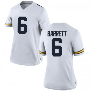 Michael Barrett Michigan Wolverines Women's Game Brand Jordan Football College Jersey - White