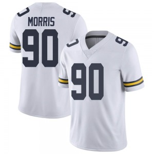 Mike Morris Michigan Wolverines Youth Limited Brand Jordan Football College Jersey - White