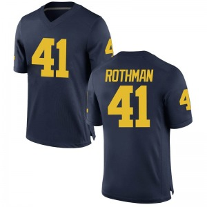 Quinn Rothman Michigan Wolverines Youth Game Brand Jordan Football College Jersey - Navy