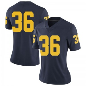 Ramsey Baty Michigan Wolverines Women's Limited Brand Jordan Football College Jersey - Navy