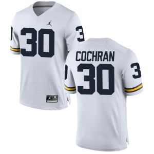 Tyler Cochran Michigan Wolverines Youth Authentic Brand Jordan Football Jersey  -  White